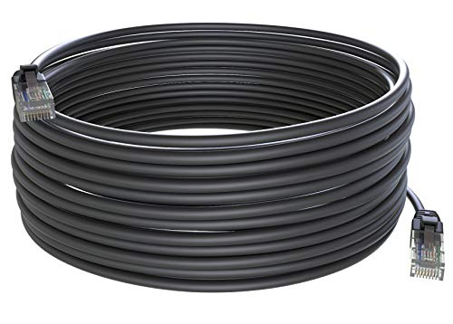 Maximm Cat6 200 ft Ethernet Cable Outdoor 200 Feet (60 Meters) Zero Lag Waterproof Internet Cable Suitable for Direct Burial Installations.