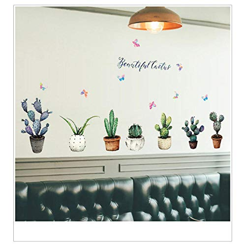Xxscz Cactus Potted Muursticker Kast Vensterbank Stickers Wallwall Stickers Home Decor Verwijderbare Muursticker