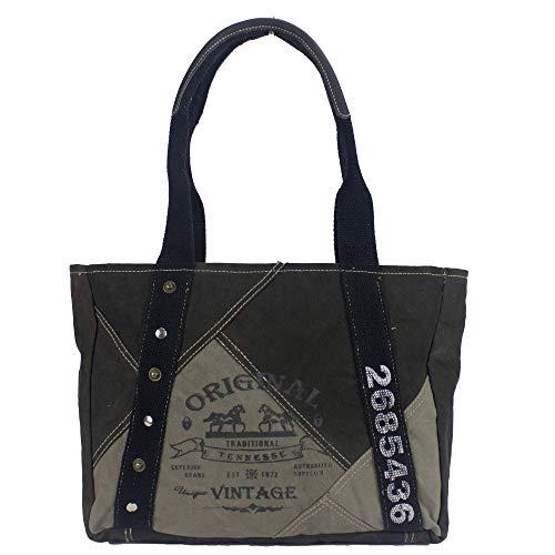 Sunsa Women's Handbag Shopper Shoulder Bag Tote Large Wrist Bag Canvas Weekender Retro Vintage with Canvas Leather Shoulder Bag Evening Bag