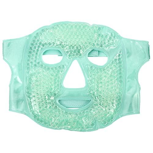 Healifty Ice for Women Hot Cold Gel Bead Full Facial Gel Cold Eye Pack com suporte de pelúcia para enxaqueca, alívio de estresse verde