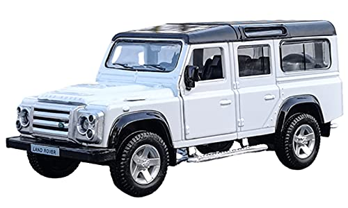 JUDRR Defensor ORV 1:36 Modelo de Auto Juguetes, Modelo de decoración de Pastel de aleación, Mini colección de niños Regalos,Blanco