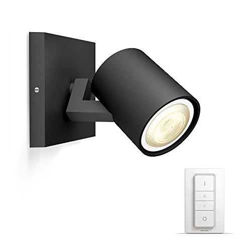 Philips Hue LED Spot Runner inkl. Dimmschalter, dimmbar, alle Weißschattierungen, steuerbar via App, schwarz, kompatibel mit Amazon Alexa (Echo, Echo Dot)