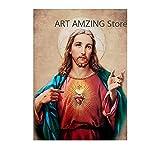 La caridad es el amor puro de Cristo Jesús Dios Póster Pintura sobre lienzo Arte moderno Cuadros decorativos de pared Decoración del hogar 50x70cm Sin marco