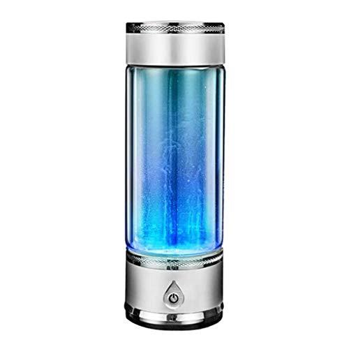 Botella de Ionizador de Agua Rica en Hidrógeno,Generador Alcalina de Alta Concentración de Calidad Botella de Agua Taza de vidrio de salud,Puedes Disfrutar De Tu Agua Hidrogenada Vayas Donde Vayas