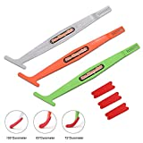 FOSHIO Vehicle Vinyl Wrap Flexible Curve Slot Magnetic Stick Squeegee Tool Kit Include 3 Different Hardness Wrap Squeegee and 3 Microfiber Felt for Car Film Installation Seal Tucking and Vinyl Molding