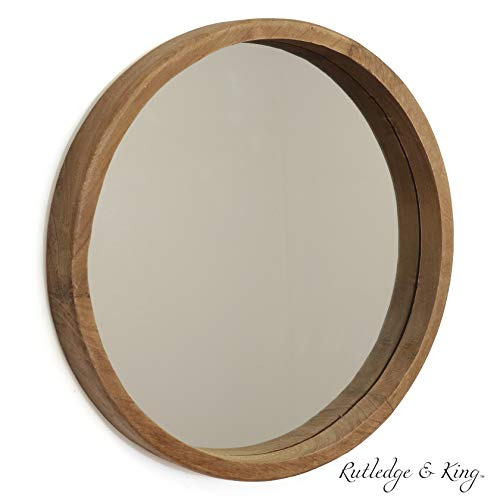 Rutledge King Riverside Wooden Mirror Wood Wall Mirror Rustic Round Mirror Large Decorative Circle Mirrors For Bathrooms Living Rooms And Bedrooms Single Buy Online In South Africa