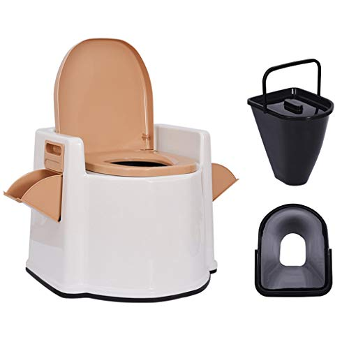 QDY-Bedside Commodes Medical Safety Mobile Toilet with HollowInner Barrel - Suitable for Disabled Elderly Pregnant Women - Sitting Stool Change Squat Pit - The Best Gift