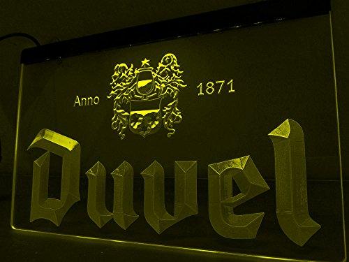 Belgisches Bier LED Zeichen Werbung Neonschild Gleb
