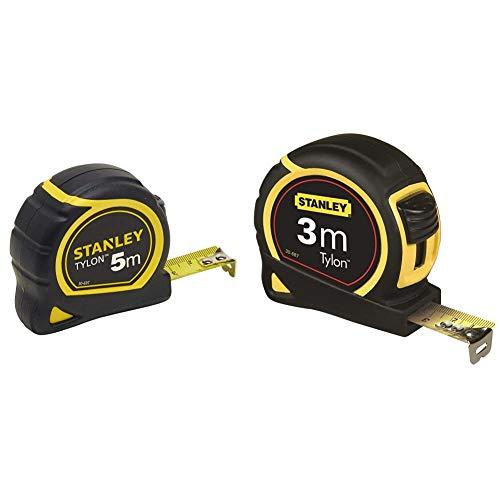 STANLEY 0-30-697 Flexómetro Tylon, 5 metros + 1-30-687 Flexómetro de cinta de acero, Único, 3 m