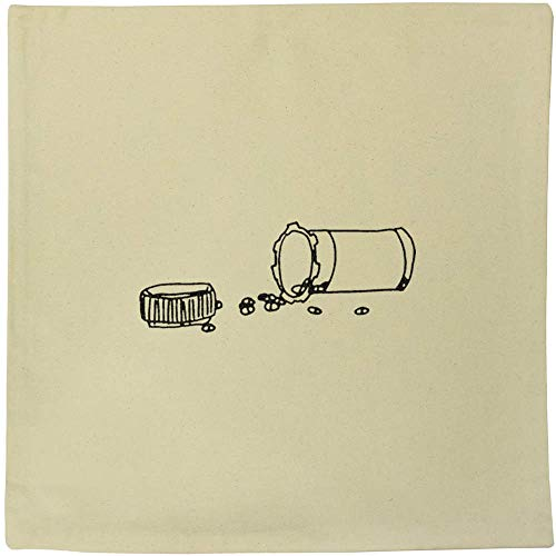 Azeeda 40cm x 40cm 'Knocked Over Pills' Canvas Cushion Cover (CV00011265)