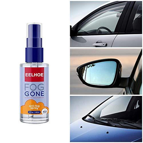 Brillen-Antibeschlag-Spray 60 ml Antibeschlagmittel- Hilft gegen Beschlagene Brille -Auto-Innenraum, Glas, Fenster, Windschutzscheibe, Antibeschlag, Defogger alle Linsen, Schwimmbrillen, Skibrillen
