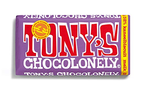Tony's Chocolonely – Chocoladereep Melkchocolade Kaneelbiscuit – 180 gram – Fairtrade Chocolade