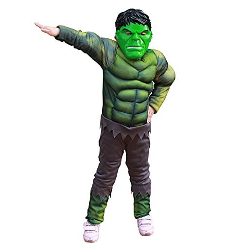 QIAOPING Niños Hulk Thor Muscle Style Body Disfraces Niños Cosplay Onesies Ropa,Hulk-M