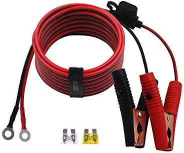 CUZEC 12FT 3 66m 14 AWG Extension Cord Eyelet Terminal with Battery Clamp 12V 24V Battery Clip product image