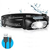LED Headlamp, TEUMI Ultra Bright Rechargeable LED Headlight - Motion Sensor, 4 Lighting