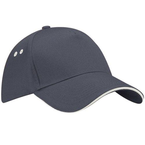 Beechfield B015 Ultimate Cap / Schirmmütze, 5Panels, Unisex, für Erwachsene, BEE-38, Grau, BEE-38 One size
