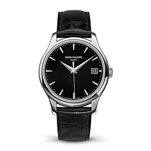 Patek Philippe Calatrava 39mm White Gold Watch Black Leather Strap