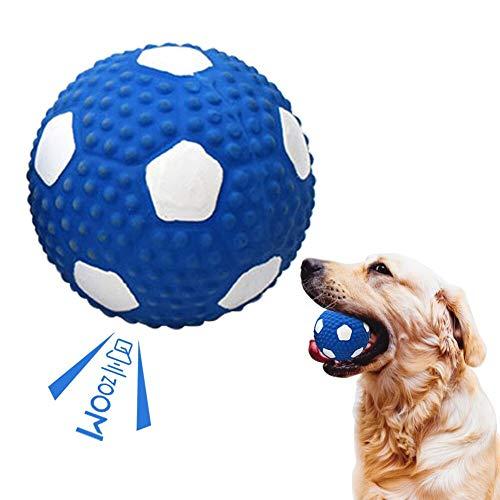 Toulifly Hundeball Unzerstörbar,Hundespielzeug Quitschend,Hundespielzeug Ball,Hundeball,Hundebälle Quietscher,Squeaker Ball Hundespielzeug,für Zähne Reinigen und Zahnfleisch Massieren, aus Gummi