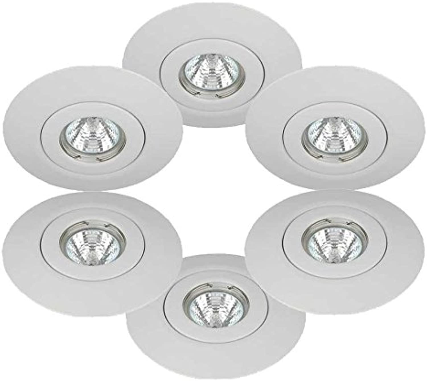 6 x Knightsbridge Downlight Spotlight Hole ConGrüner Conversion Kits GU10 & MR16 Weiß Finish by Knightsbridge