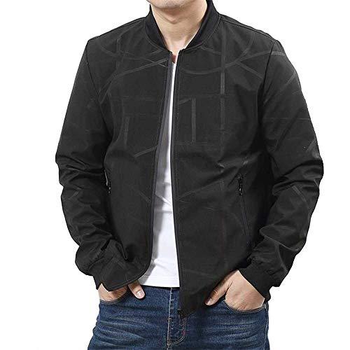 Plus Size8XL 6XL 5XL MarkeBomber Freizeitjacken Mantel Männer, Baumwolljacke schwarz Feste Mäntel Kleidung Jacken Kleidung Male Large Size Jacket
