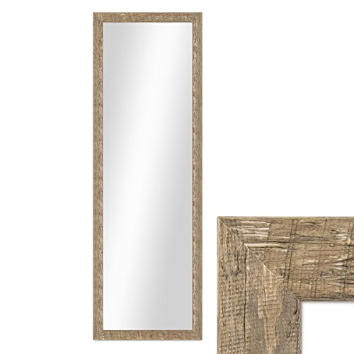 *PHOTOLINI Wand-Spiegel 36×96 cm im Holzrahmen Strandhaus-Stil Eiche-Optik Rustikal/Spiegelfläche 30×90 cm*