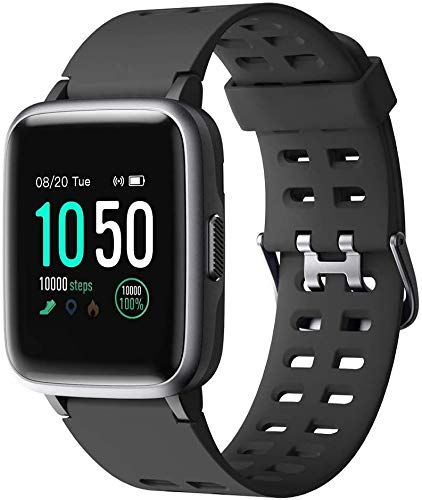 Duang Smartwatch,Fitness Armband Uhr Voller Touch Screen Fitness Uhr IP68 Wasserdicht Fitness Tracker Sportuhr mit Schrittzähler Pulsuhren Stoppuhr für Damen Herren Smart Watch für iOS Android Handy
