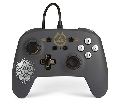 PowerA Enhanced Wired Controller for Nintendo Switch - Hylian Shield, Gamepad, Wired Video Game Controller, Gaming Controller - Nintendo Switch