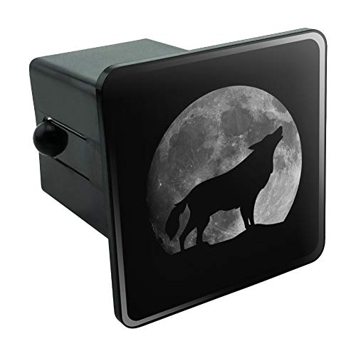 Graphics and More Wolf Howling Moon Silhouette Tow Trailer Hitch Cover Plug Insert 2'