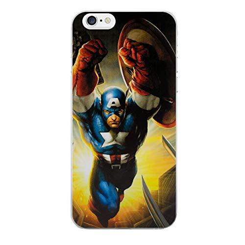 iPhone 5/5s Cómic Carcasa de Telefono / Cubierta para Apple iPhone 5s 5 SE / Protector de Pantalla y Paño / iCHOOSE / Capitán América