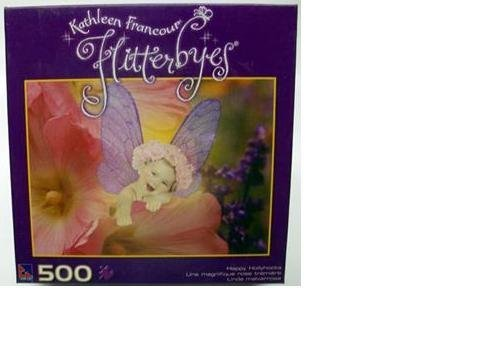 Kathleen Francour Flitterbyes 500 Piece Puzzle - Happy Hollyhocks by Sure-Lox by Sure-Lox
