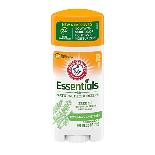ARM & HAMMER Essentials Deodorant with Natural Deodorizers, Fresh Rosemary Lavender, 2.5 OZ