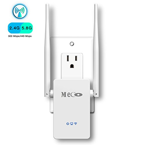 WiFi Range Extender, MECO AC750 WiFi Repeater Wireless Signal Booster, 2.4 & 5GHz Dual Band WiFi Extender with Ethernet Port, Supports Repeater/Access Point/Router Mode, Easy Set-Up