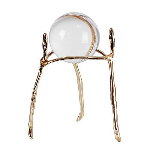liushop Bola de cristal moderna transparente de cristal de cobre bola adornos sala de estar oficina adornos cobre artesanía bola de adivinación