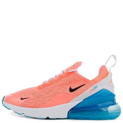 Nike Women's Air Max 270 Running Shoe (6.5, Lava Glow/Black/White/Blue Fury)