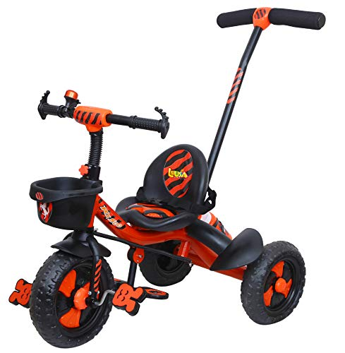 Luusa RX-500 Plug N Play Kids / Baby Tricycle with Parental Control , Cushion seat and seat Belt for 12 Months to 48 Months Boys / Girls / . Carrying Capacity Upto 30kgs ( Red )