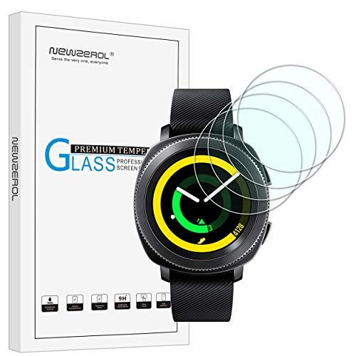 NEWZEROL [4 stück] Ersatz für Samsung Gear Sport Panzerglas Schutzfolie, High-Definition Bildschirmschutz Kratzfest blasenfrei Bildschirmschutzfolie für Gear Sport Smart Watch-[Lebenslange Ersatzgarantie]