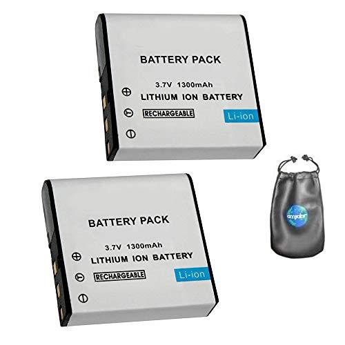 amsahr - Batería de Repuesto para cámara Digital y videocámara Casio NP-40, NP-40dBA, 40DCA NP-of-2 (Incluye Funda para Objetivo)