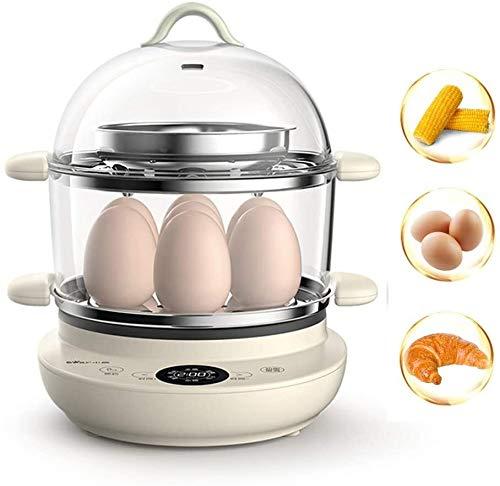 WHSS Calderas de huevo, calderas de huevo, vaporizador de cita programado, apagado automático, máquina multifunción antiadherente para huevos suaves y duros perfectos (color de padre)