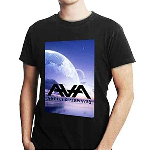 Angels & Airwaves AVA Tee Cotton Tshirt Black New Men's T-Shirt Black L