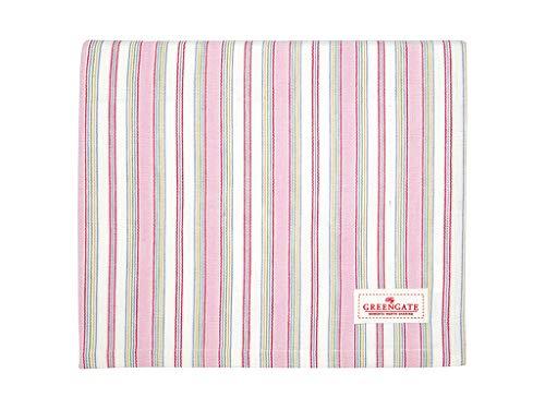 GreenGate Tischdecke Imke Pale pink Streifen 130x170cm gestreift