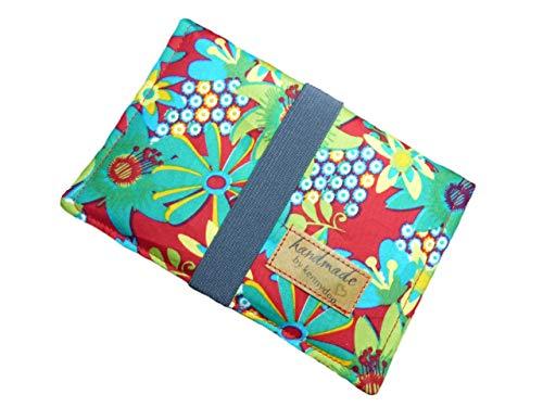 Tabaktasche Stoff Tabakbeutel für Damen - Drehertasche mit Fächern für Filter, Tabak, Blättchen und Feuerzeug I Drehtabak Tasche I Geschenk-Verpackung