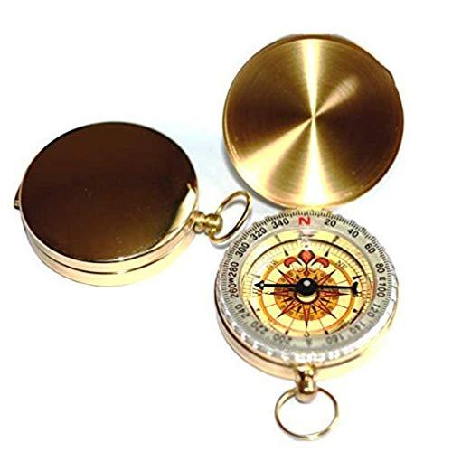 Dorime Geological Tasche Messing Uhr-Stil leuchtende Kompass für die Navigation kampierenden
