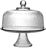 Anchor Hocking Monaco Cake Set, STD, Crystal