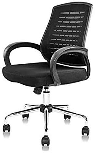 YONGYONGCHONG Silla de oficina Silla de juegos ergonómica de malla negra silla de ordenador Flip Up Brazos con soporte lumbar Silla de tarea de altura ajustable