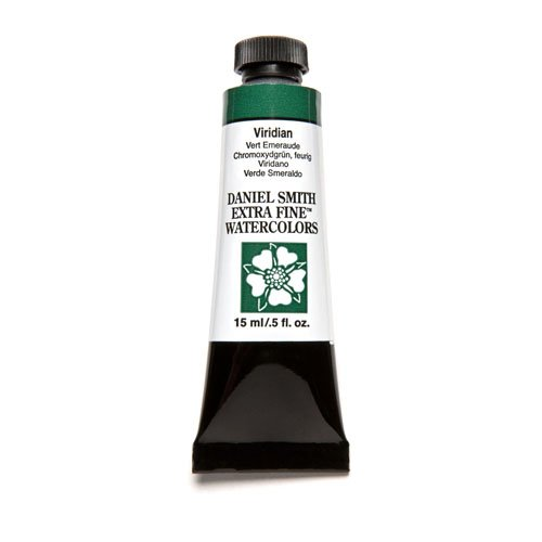 DANIEL SMITH, Viridian Extra Fine Watercolor 15ml Paint Tube