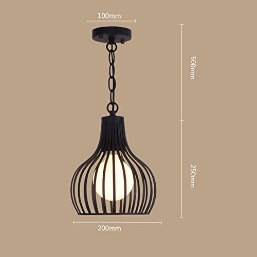 ZWL Fer Lustres, Bar Hanging lumières Restaurant Bar Lampe Décoration Art Lumières Lampes Café Boutique Balcon Allée Lustre E27,20  25 CM la mode. z (taille   20  25CM)