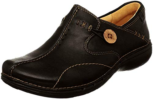 Clarks Women's Un.Loop, Black Leather, 10 M US