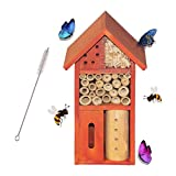 Funpeny Wooden Insect House, Insect Hotel for Butterfly, Bees and Ladybugs (Small)