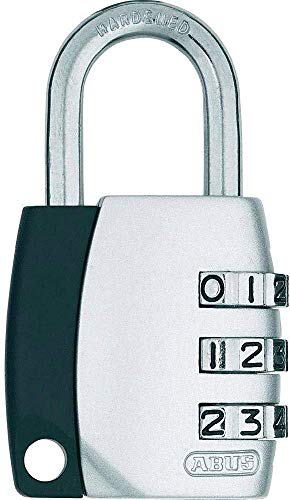 ABUS Zahlenschloss 155/20 - Vorhängeschloss mit Zinkdruckguss-Gehäuse - mit individuell einstellbarem Zahlencode - 09344 - Level 3 - Silber