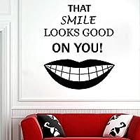 Cwinan 歯科医院の壁のステッカー歯科治療の取り外し可能な窓の壁のステッカー歯科医院のラウンジのための装飾的なステッカー68X57Cm